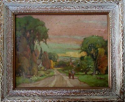 Canadian Oil Painting on Board After J.W.Beatty J.C.Webster 1935 Stoney Lake