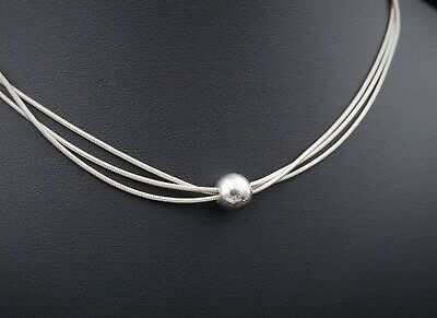"""NWOT Silpada Sterling Silver 3 Strand Ball Thoreau Necklace 16"""" N0914 NS1519"""