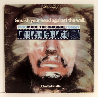 John Entwistle - Smash Your Head Against The Wall 1971 Decca ‎DL 79183 w/ sleeve