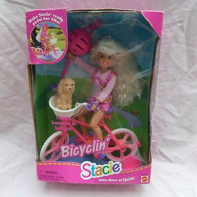 Bicyclin' Stacie Barbie Little Sister Bike 1996 NIB Mattel Bicycle
