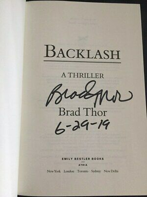 Backlash by Brad Thor Signed Dated 1st Like New Hardcover 2019 Scot Harvath