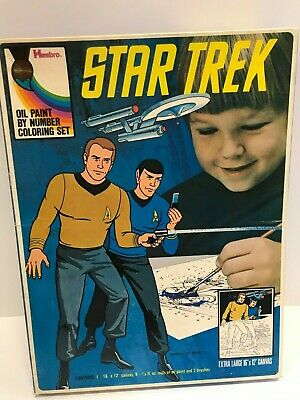 *1974 Hasbro Star Trek Oil Paint By Numbers Coloring Set In The Box