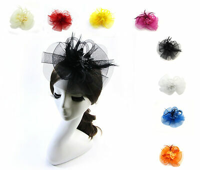 New Wedding Flower Feather Bead Corsage Hair Clips Fascinator Hairband GG U PICK