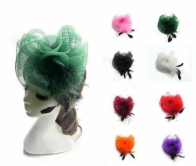 New Wedding Flower Feather Bead Corsage Hair Clips Fascinator Hairband GE U PICK