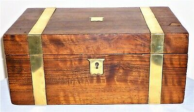 Antique Late Victorian C1900 Wooden Document/Keepsake Box For Restoration
