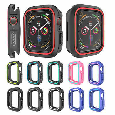 1d752a12c For Apple Watch Series 1234 iWatch 38/42/40/44mm Silicone TPU Bumper