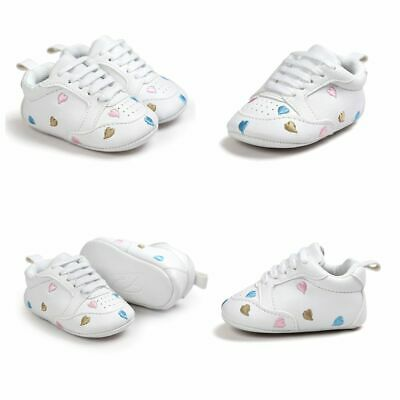 Kids Heart Anti-slip PU Leather Baby Shoes Sneakers First Walkers Newborn