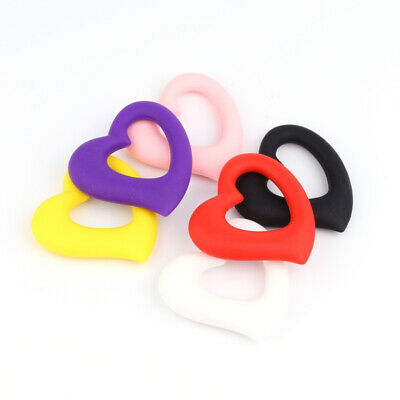 Heart Baby Silicone Teether Teething Toys Chewable Necklace Jewelry Training DIY