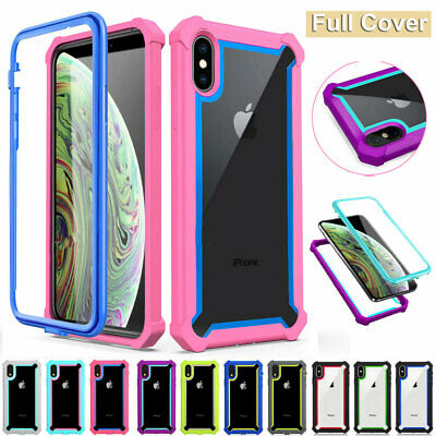 Slim Rugged Rubber Heavy Duty Case for iPhone XR X XS MAX 6 7 8 Plus Armor Cover