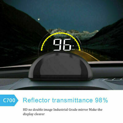 Head Up Display OBD2 Car HUD Clear Display Projector Speedometer Speed Warn 2019