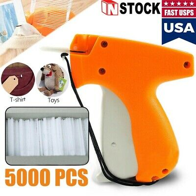 "Clothing Garment Price Label Tagging Tag Gun Needle Machine 5000 1"" or 2"" Barbs"
