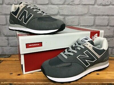 promo code fd010 6acbc NEW BALANCE 574 Mens Uk 8 Eu 42 Grey Suede Mesh Trainers Trainers Ep