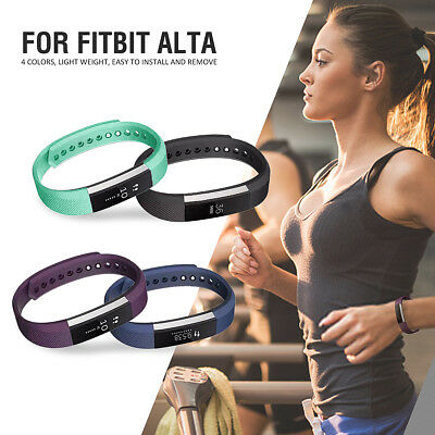 7Pcs Luxury Replacement Silicone Wrist Band Strap For Fitbit Alta / HR Bracelet