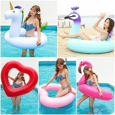 Inflatable Giant Swim Pool Floats Raft Swimming Fun Water Sports Beach Toy UK~~