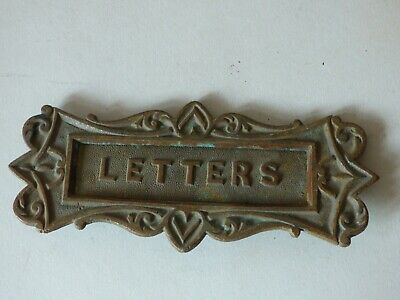 Collectable Architectural Solid Brass Door Knocker Mail Letter Slot Free Uk P+P