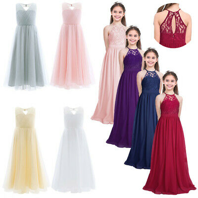 Flower Girl Princess Dress Kid Communion Gown Party Wedding Pageant Long Dresses