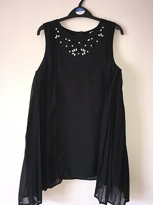 Sainsburys Tu Girls Black Longer Style Top Age 12 Years Never Worn