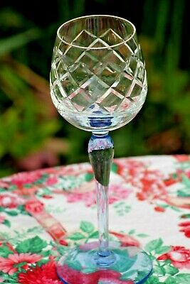 crystal glasses Wine x 3 Hand cut Prosecco drinking glass