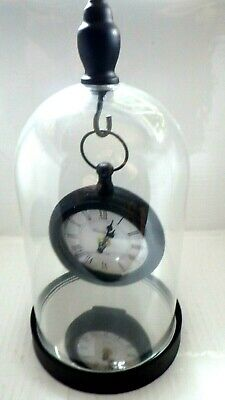 Clock Glass Dome Hanging Mantle CLOCK BY KENSINGTON GREAT GIFT BOXED