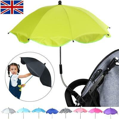 Universal Kids Baby Pram Umbrella Parasol UV Sunshade For Stroller And Pushchair
