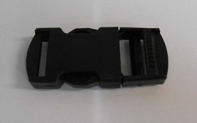 50 Plastic Slide Clip Fasteners Buckle Squeeze Release 10mm wide. Sewing/Straps