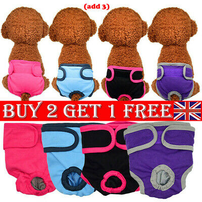 Female Pet Dog Physiological Pants Sanitary Nappy Diaper Shorts Underwear S/M/L
