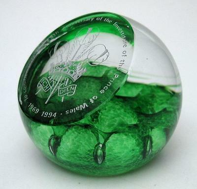 Caithness Scotland Limited Ed 25Th Anniversary Prince Of Wales Paperweight