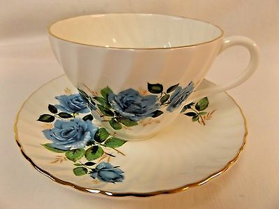 Staffordshire Teacup & Saucer Made In England Fine Bone China Roses