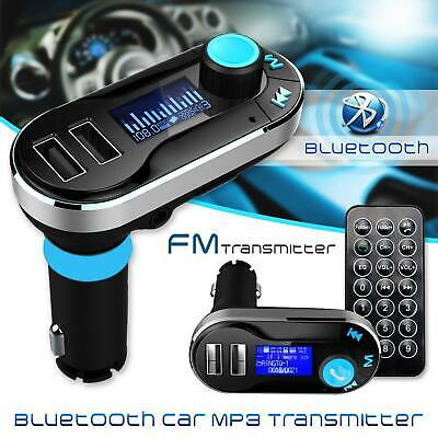 Bluetooth FM Wireless Transmitter MP3 Player Car Kit Charger FOR iPhone Samsung