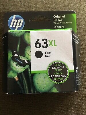 HP GENUINE 63XL Black Ink 02/28/2021 SEALED BOX OFFICEJET 3830 4650 4654