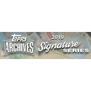 2019 Topps Archives Baseball Signature Series Sealed Hobby Box ACTIVE PLAYER