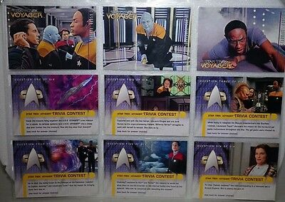 STAR TREK VOYAGER .SKYBOX Learning Curve X 3 Trivia Contest x 6 1995
