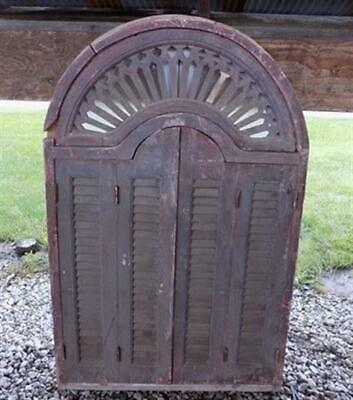 5' Vintage Window Frame with Shutter Doors Architectural Salvage Window Decor d