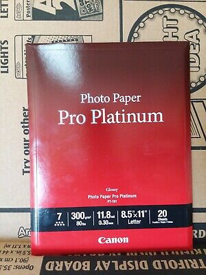 LOT OF 2-1 Canon Photo Paper Pro Platinum 8.5x11 20 Sheets AND