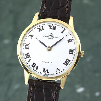 Baume & Mercier Baumatic 18K (0,750) Gold Automatik Herrenuhr Medium Ref. 35082