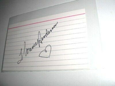 FLORENCE HENDERSON Brady Bunch SIGNED Autographed 3 x 5 Index Card