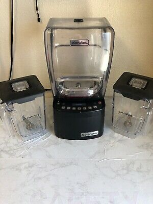 Blendtec Commercial Stealth 885 Black Blender W/ Two Wildside+ Jars