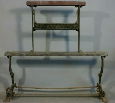 Antique VICTORIAN COUNTRY STORE Old CAST IRON Wood REX Butcher PAPER HOLDER