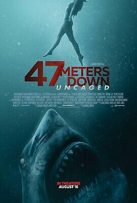 47 Meters Down Uncaged - original DS movie poster - 27x40 D/S  - Sharks
