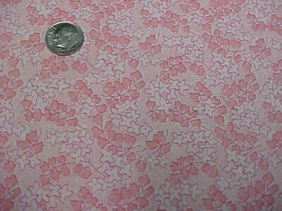 PINK Floral Feedsack Style Cotton Fabric 2 Yds Quilt Sew Material Craft Sewing