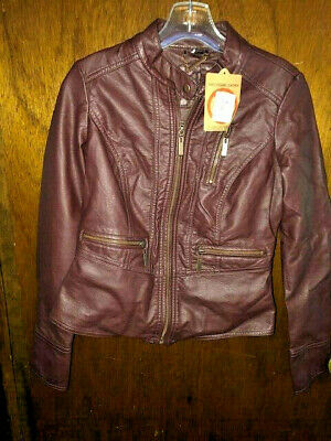 Nordstroms ODYN vegan leather brown JACKET New Faux Leather X-small  REDUCED!