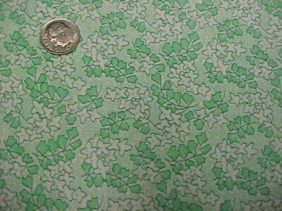 GREEN Floral Feedsack Style Cotton Fabric 2 Yds Quilt Sew Material Craft Sewing