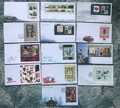 Collection 2005-2009 GB Miniature Sheet / Prestige Booklet First Day Covers (13)