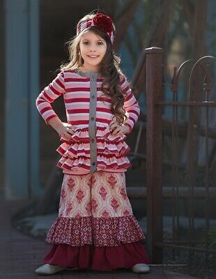 NWT Persnickety Holiday Candy Cane Pink Stripe Tess Jacket Top Girls sz 3 4 5
