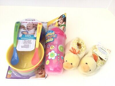 Munchkin Love a Bowls Nuby Insulated Cool Sipper Widdle Ones Slippers