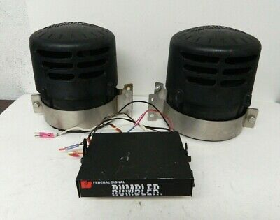 Federal Signal Rumbler Siren & Speaker Intersection Clearing System 82831059 #2
