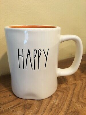 NEW Rae Dunn Happy Halloween Mug M Magenta Stamp First Edition RARE DOUBLE SIDED
