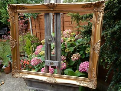 """VINTAGE old picture frame GOLD fits a 24 inch X  20"""" painting"""