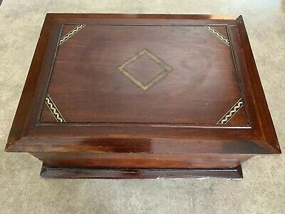 Antique Early Colonial Cherry Wood Humidor