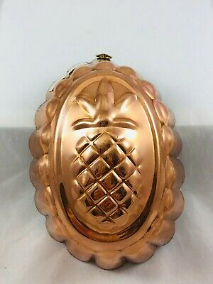 Old Benjamin&Medwin Tin Lined Copper Jello Pudding Cake Mold Pineapple Fluted